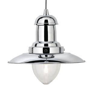 Utility Ceiling Pendant Light - Polished Chrome