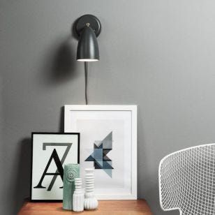 DFTP Nexus 10 Wall Light - Grey