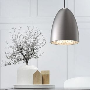 DFTP Nexus 20 Ceiling Pendant Light - Brushed Steel