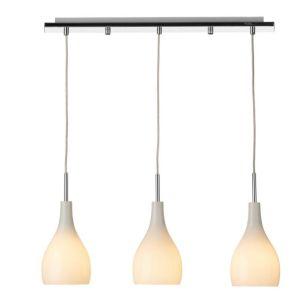 Dar Soho 3 Light Bar Ceiling Pendant - White