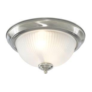 Dome Flush Ceiling Light - Satin Chrome