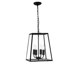 Searchlight Voyager Tapered 4 Light Ceiling Pendant - Black