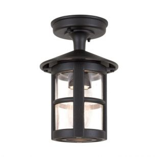 Elstead Hereford Semi-Flush Porch Lantern