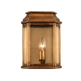 Elstead St Martins Half Lantern Outdoor Wall Light - Brass