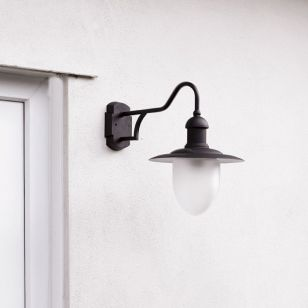 Lucide Aruba Outdoor Hanging Lantern Wall Light - Black