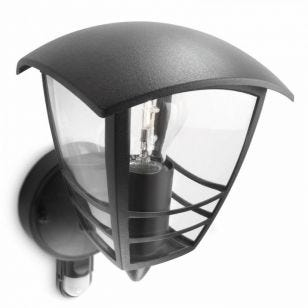 Philips Creek Outdoor Lantern Wall Light with PIR Sensor - Black