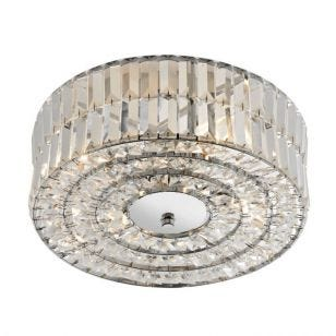 Dar Errol Flush Ceiling Light