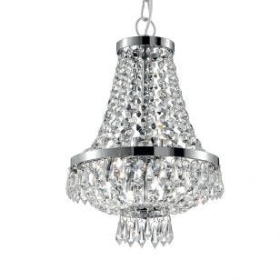 Caesar 4 Light Chandelier - Polished Chrome