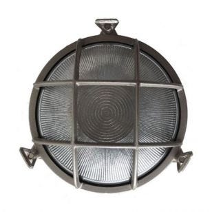 Uber Lamp Rock Round Outdoor Wall Light - Nickel
