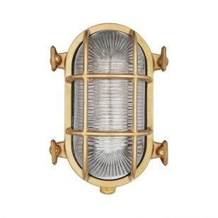 Uber Lamp Looe Oval Outdoor Wall Light - Brass