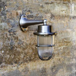 David Hunt Harbour Outdoor Wall Light - Light Nickel
