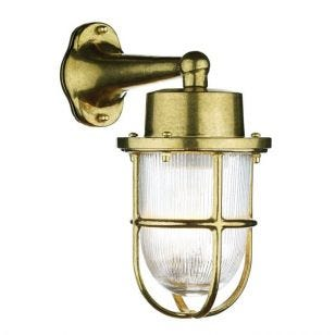 David Hunt Harbour Outdoor Wall Light - Brass