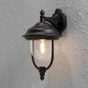 Konstsmide Parma Outdoor Hanging Wall Light - Black