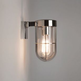 Astro Cabin Outdoor Wall Light - Polished Nickel