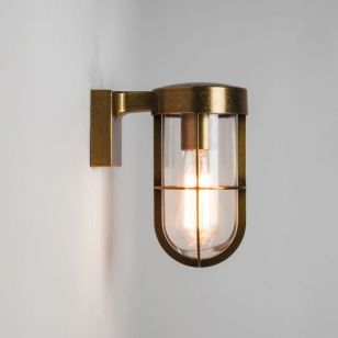 Astro Cabin Outdoor Wall Light - Antique Brass