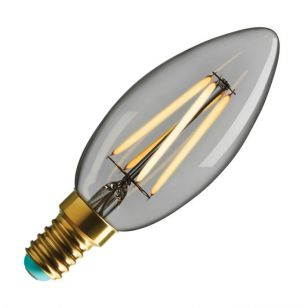 WattNott Winnie 4W Warm White Dimmable LED Decorative Filament Clear Candle Bulb - Small Screw Cap