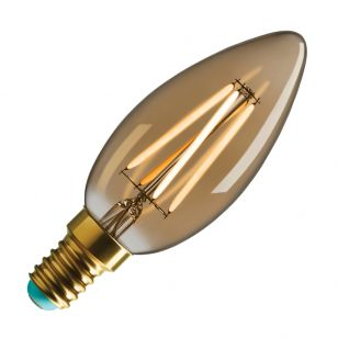 WattNott Winnie 4W Very Warm White Dimmable LED Decorative Filament Gold Candle Bulb - Small Screw Cap