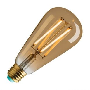 WattNott Willis 4.5W Warm White Dimmable LED Decorative Filament Gold Squirrel Cage Bulb - Screw Cap