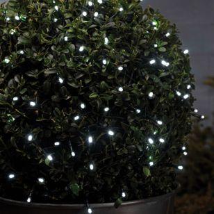 White Solar LED String Lights - 50 Lights