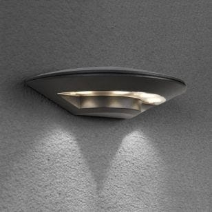 Edit Disc Outdoor LED Wall Light - Anthracite