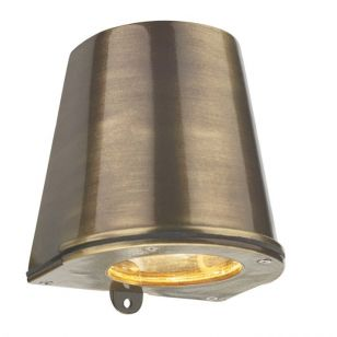 David Hunt Strait Outdoor Wall Light - Antique Brass