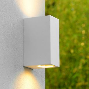 Lucide Zora Square LED Outdoor Up & Down Wall Light - White