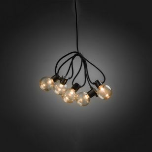 Konstsmide 14.75M LED Clear Round Festoon Lights - 20 Lights