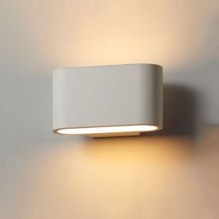 Edit Concept Plaster Up & Down Wall Light - Satin White