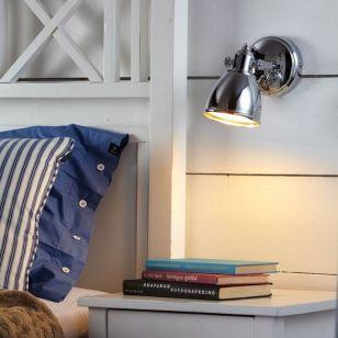 Backa Single Spotlight with Plug - Polished Chrome