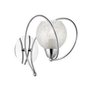Dar Rafferty Wall Light - Polished Chrome