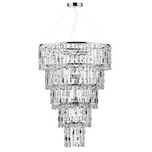 Dar Escala Chandelier - Crystal