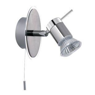 Spot LED Single Spotlight - Satin Silver