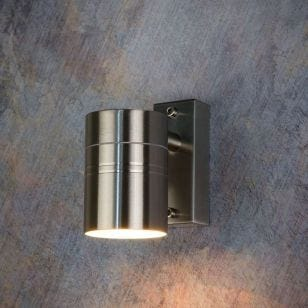 Lucide Arne LED Outdoor Wall Light - Satin Chrome