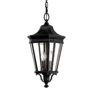 Feiss Cotswold Lane Outdoor Porch Pendant Light - Black
