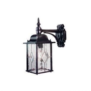Elstead Wexford Outdoor Hanging Lantern Wall Light - Black/Silver