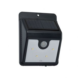 Eglo Solar LED Outdoor Wall Light with PIR Sensor - Black