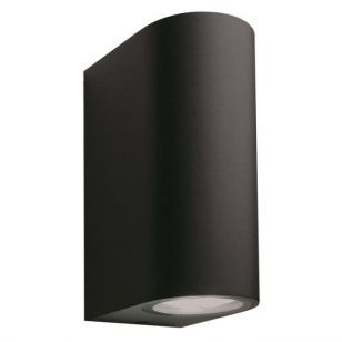 Techmar Plug and Play - Sibus Outdoor Twin  LED Wall Light - Black
