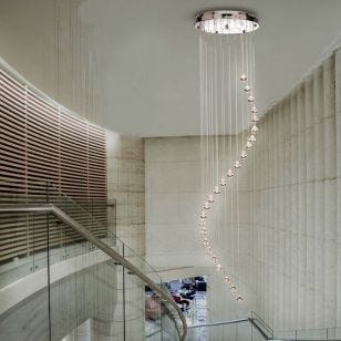 Searchlight Hallway 5 Light Cascade Ceiling Pendant - Crystal