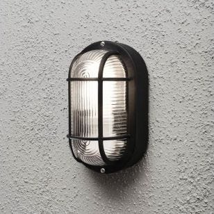 Konstsmide Elmas Outdoor Wall Light - Black