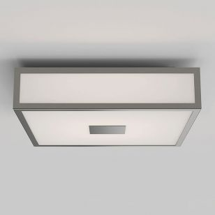 Astro Mashiko 300 Square LED Flush Ceiling Light - Matt Nickel