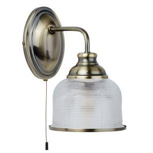 Patron Glass Wall Light - Antique Brass