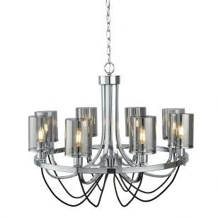 Searchlight Catalina 8 Light Chandelier - Chrome