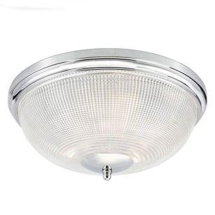 Dar Arbour Flush Ceiling Light - Polished Chrome