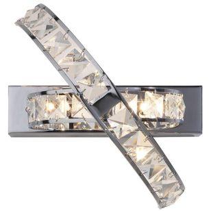Dar Eternity Crystal Adjustable Wall Light - Polished Chrome