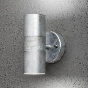 Konstsmide Modena Outdoor Up & Down Wall Light - Galvanised Steel