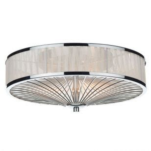 Dar Oslo Flush Ceiling Light - Polished Chrome