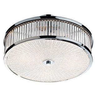 Dar Aramis Flush Ceiling Light - Polished Chrome