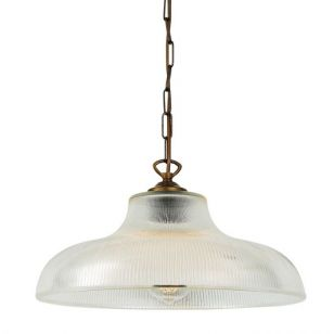 Mullan London Glass Ceiling Pendant Light - Antique Brass