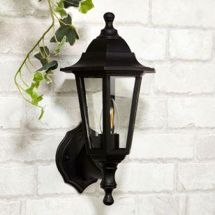 Searchlight Morgan Coach Lantern Outdoor Wall Light - Black