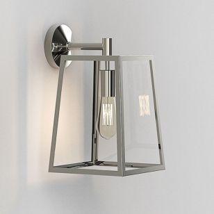 Astro Calvi 305 Outdoor Hanging Lantern Wall Light - Polished Nickel